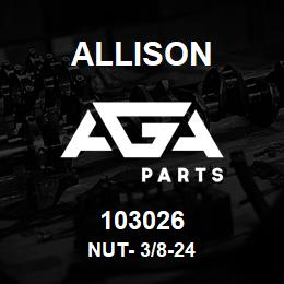 103026 Allison NUT- 3/8-24 | AGA Parts