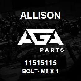 11515115 Allison BOLT- M8 X 1 | AGA Parts