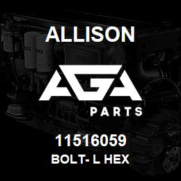 11516059 Allison BOLT- L HEX | AGA Parts