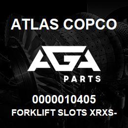 0000010405 Atlas Copco FORKLIFT SLOTS XRXS-XRVS | AGA Parts