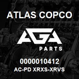 0000010412 Atlas Copco AC-PD XRXS-XRVS | AGA Parts