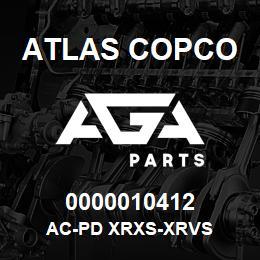0000010412 Atlas Copco AC-PD XRXS-XRVS | AGA Parts