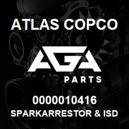 0000010416 Atlas Copco SPARKARRESTOR & ISD XRXS-XRVS | AGA Parts