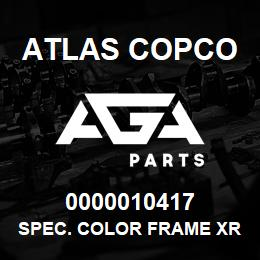 0000010417 Atlas Copco SPEC. COLOR FRAME XRXS-XRVS | AGA Parts