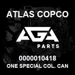 0000010418 Atlas Copco ONE SPECIAL COL. CAN.XRXS-XRVS | AGA Parts