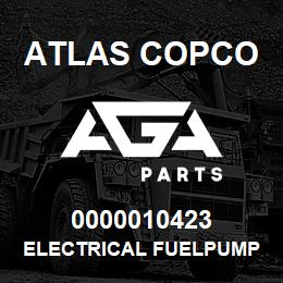 0000010423 Atlas Copco ELECTRICAL FUELPUMP XRXS-XRVS | AGA Parts
