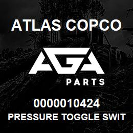 0000010424 Atlas Copco PRESSURE TOGGLE SWITCH XRXS-XR | AGA Parts