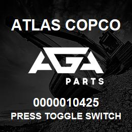 0000010425 Atlas Copco PRESS TOGGLE SWITCH FX XRXS-XR | AGA Parts
