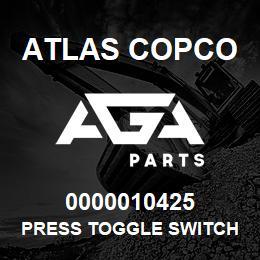 0000010425 Atlas Copco PRESS TOGGLE SWITCH FX XRXS-XR | AGA Parts