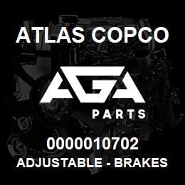 0000010702 Atlas Copco ADJUSTABLE - BRAKES | AGA Parts