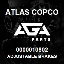 0000010802 Atlas Copco ADJUSTABLE BRAKES | AGA Parts