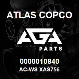 0000010840 Atlas Copco AC-WS XAS756 | AGA Parts