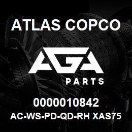 0000010842 Atlas Copco AC-WS-PD-QD-RH XAS756 | AGA Parts