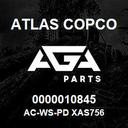 0000010845 Atlas Copco AC-WS-PD XAS756 | AGA Parts