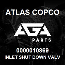 0000010869 Atlas Copco INLET SHUT DOWN VALVE   AGA Parts