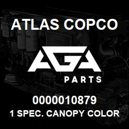 0000010879 Atlas Copco 1 SPEC. CANOPY COLOR XAHS236 | AGA Parts