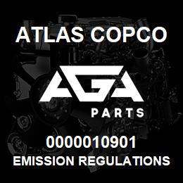 0000010901 Atlas Copco EMISSION REGULATIONS | AGA Parts