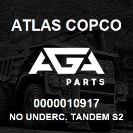 0000010917 Atlas Copco NO UNDERC. TANDEM S2 | AGA Parts
