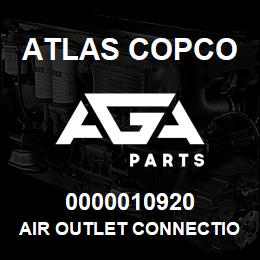 0000010920 Atlas Copco AIR OUTLET CONNECTION NPT | AGA Parts
