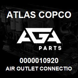 0000010920 Atlas Copco AIR OUTLET CONNECTION NPT   AGA Parts