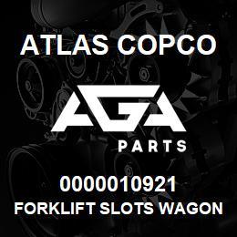 0000010921 Atlas Copco FORKLIFT SLOTS WAGON | AGA Parts