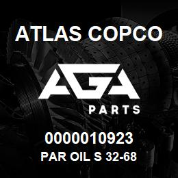 0000010923 Atlas Copco PAR OIL S 32-68 | AGA Parts