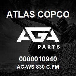0000010940 Atlas Copco AC-WS 830 C.FM | AGA Parts
