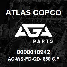 0000010942 Atlas Copco AC-WS-PD-QD- 850 C.FM | AGA Parts