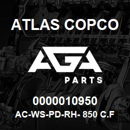 0000010950 Atlas Copco AC-WS-PD-RH- 850 C.FM | AGA Parts