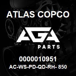 0000010951 Atlas Copco AC-WS-PD-QD-RH- 850 C.FM | AGA Parts