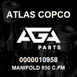 0000010958 Atlas Copco MANIFOLD 850 C.FM | AGA Parts