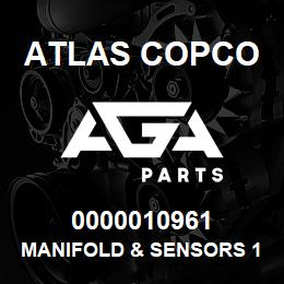 0000010961 Atlas Copco MANIFOLD & SENSORS 1050-1300 | AGA Parts