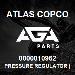 0000010962 Atlas Copco PRESSURE REGULATOR (XR) | AGA Parts