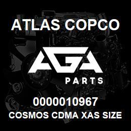 0000010967 Atlas Copco COSMOS CDMA XAS SIZE2 C.13   AGA Parts