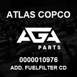 0000010976 Atlas Copco ADD. FUELFILTER CD | AGA Parts