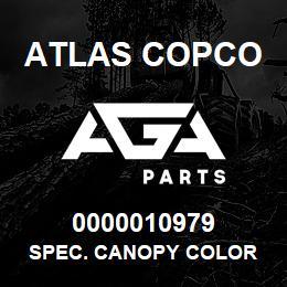 0000010979 Atlas Copco SPEC. CANOPY COLOR   AGA Parts