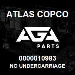 0000010983 Atlas Copco NO UNDERCARRIAGE   AGA Parts