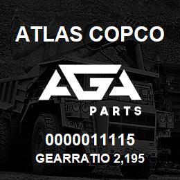 0000011115 Atlas Copco GEARRATIO 2,195 | AGA Parts