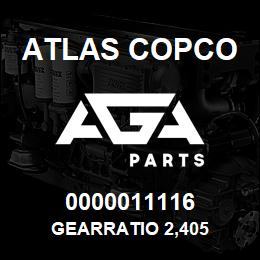 0000011116 Atlas Copco GEARRATIO 2,405 | AGA Parts