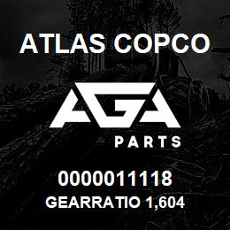 0000011118 Atlas Copco GEARRATIO 1,604 | AGA Parts