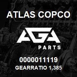 0000011119 Atlas Copco GEARRATIO 1,385 | AGA Parts