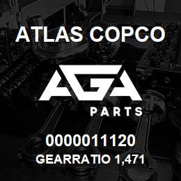0000011120 Atlas Copco GEARRATIO 1,471 | AGA Parts