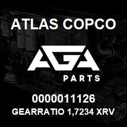 0000011126 Atlas Copco GEARRATIO 1,7234 XRV-X 10-12 | AGA Parts