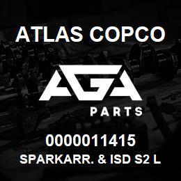 0000011415 Atlas Copco SPARKARR. & ISD S2 LP   AGA Parts