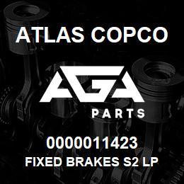 0000011423 Atlas Copco FIXED BRAKES S2 LP | AGA Parts