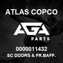 0000011432 Atlas Copco SC DOORS & FR.BAFF. S1,5-2LP   AGA Parts