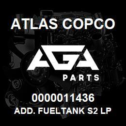 0000011436 Atlas Copco ADD. FUELTANK S2 LP | AGA Parts