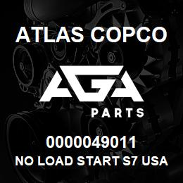 0000049011 Atlas Copco NO LOAD START S7 USA | AGA Parts