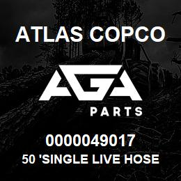 0000049017 Atlas Copco 50 'SINGLE LIVE HOSE REEL S7 U | AGA Parts