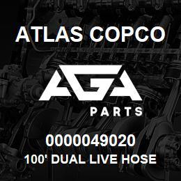 0000049020 Atlas Copco 100' DUAL LIVE HOSE REEL S7 US | AGA Parts